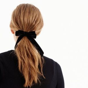 Jcrew velvet hair bow